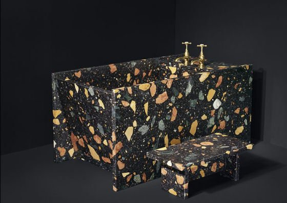 terrazzo bathroom furniture by Max Lamb and Dzek