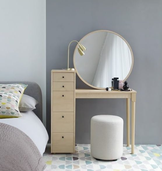 Habitat 39 s emil dressing table small and perfectly formed colourful beautiful things - Small space makeup vanity style ...