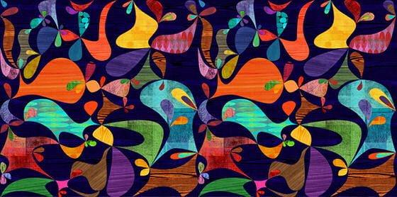 Brightl, multicolourred abstract Rex Ray wallpaper 'Cocobolo' from flavorpaper.com