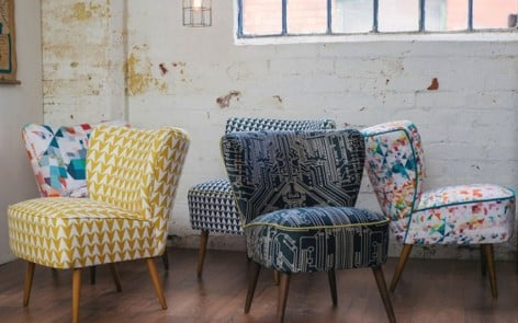 Cocktail chairs by Flock Studio and Florrie and Bill