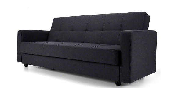 Francis Charcoal Fabric Sofa Bed from Modern.co.uk