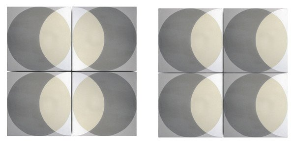 grey circle floor tiles by Lindsey Lang