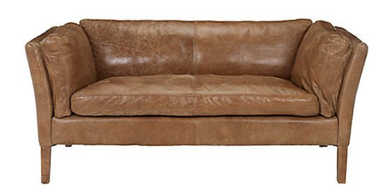 John Lewis Groucho small sofa in Walnut leather