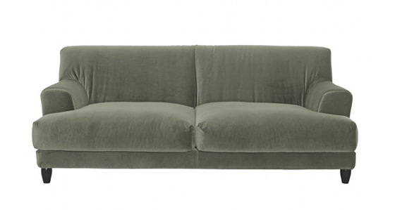 Habitat Askem Sage Green Velvet Sofa