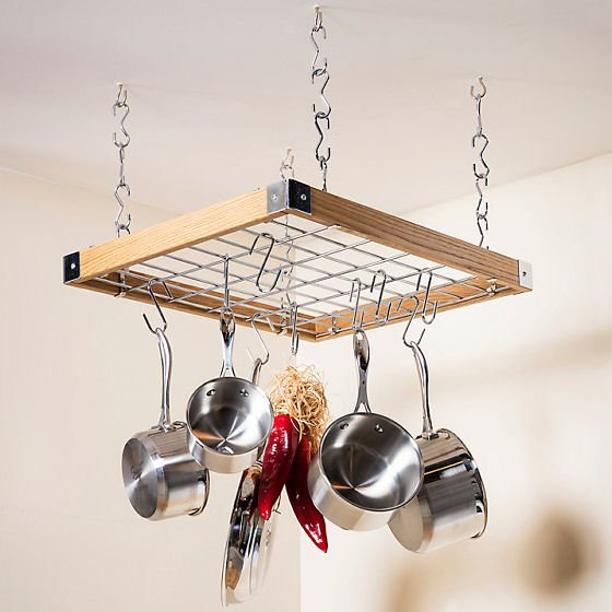 Storage solution for small spaces - Hahn Square Ceiling Rack for kitchen storage