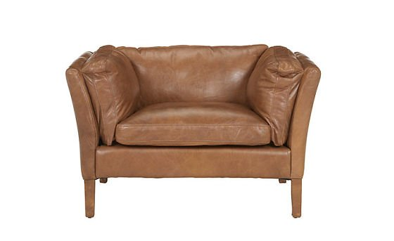 John lewis Halo Groucho Leather Armchair in Walnut Leather