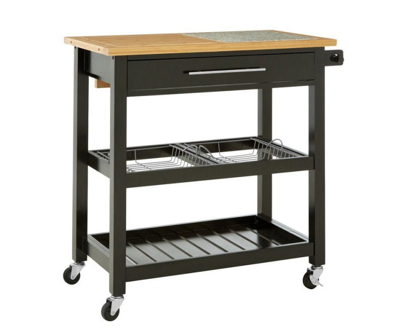 Laurel Foundry grey freestanding kitchen island with wheels