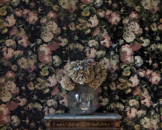dark floral wallpaper by House of Hackney - Multi Floral Midnight Garden