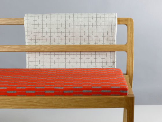 Eleanor Pritchard textiles: Long Eaton bench by Assembly Room