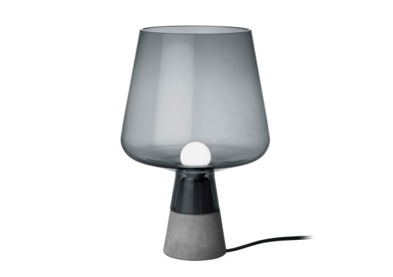 Concrete and grey glass Leimu table lamp