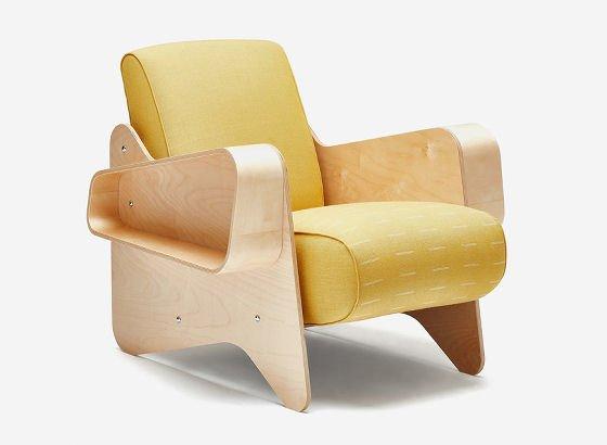 Eleanor Pritchard textiles x Isokon Plus Marcel Breuer Armchair