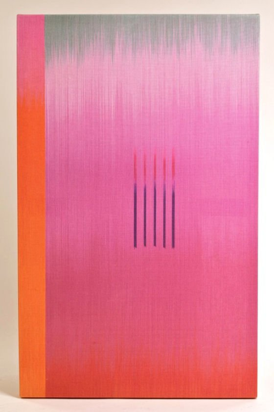 Pink and Orange textile artwork by Ptolemy Mann from 1st Dibs