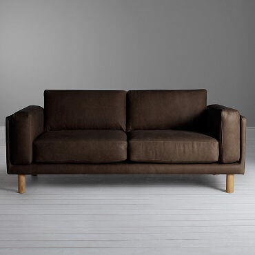 3-seater contemporary leather sofa by John Lewis Design Project