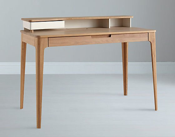 Contemporary Home Desk In Oak