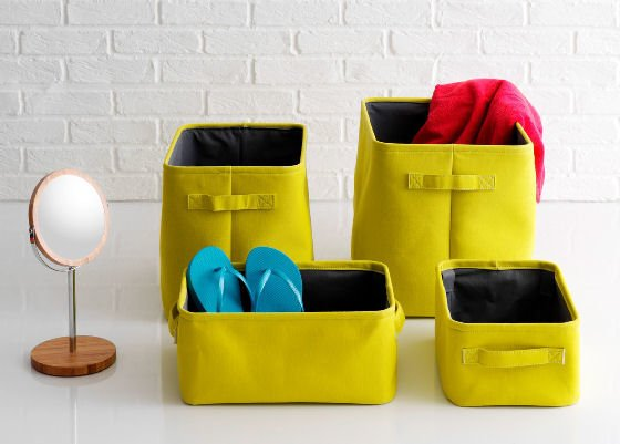 Lemon yellow Jolie Storage Basket Sets from Habitat