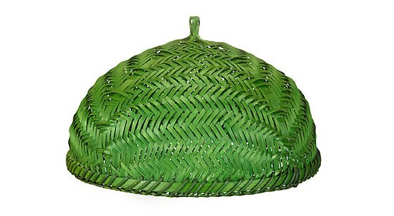 Green woven bamboo Food Cover by John Lewis - Botanical Brights Edit