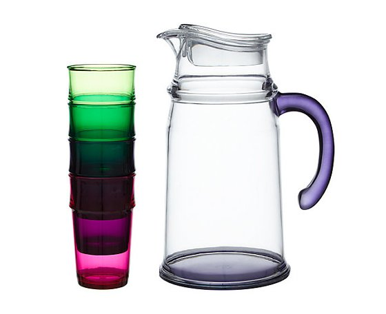 John Lewis Botanical Brights La Selva Pitcher and 4 Stacking Glasses