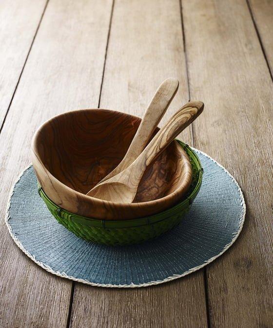 John Lewis La Selva Edit Olive Wood Salad Bowl