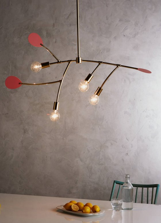 Lacquered Mobiliesque Chandelier