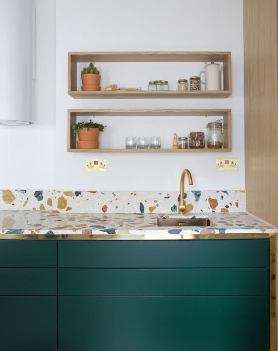 contemporary terrazzo kitchen worktop