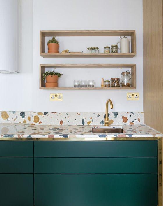 contemporary terrazzo kitchen worktop
