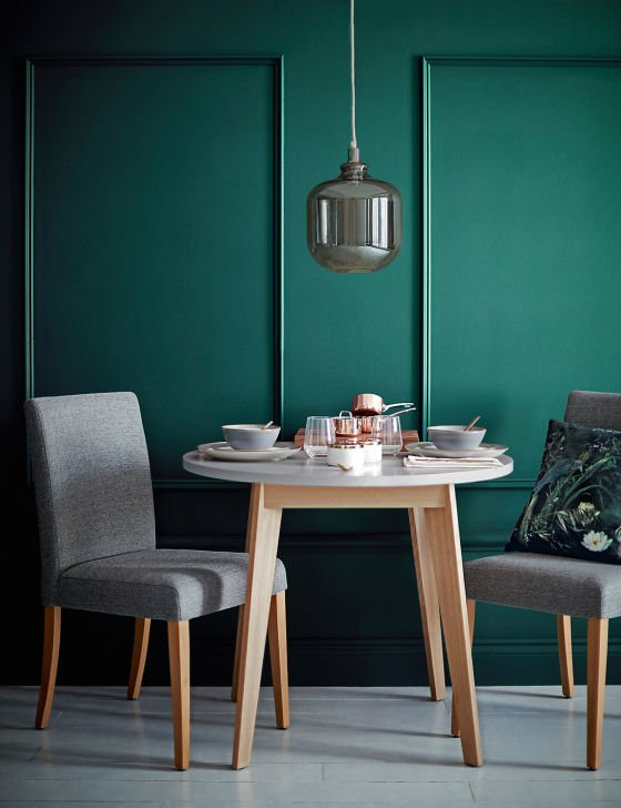 M&S LOFT range Bradshaw round dining table for small spaces