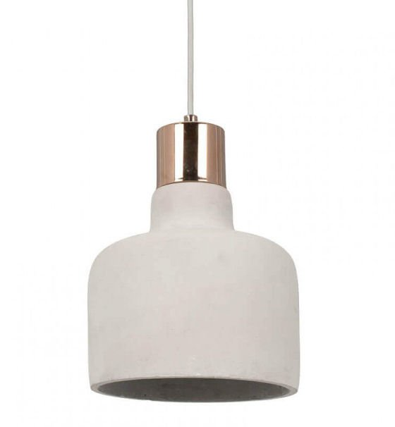 Copper and concrete pendant light from Cox & Cox