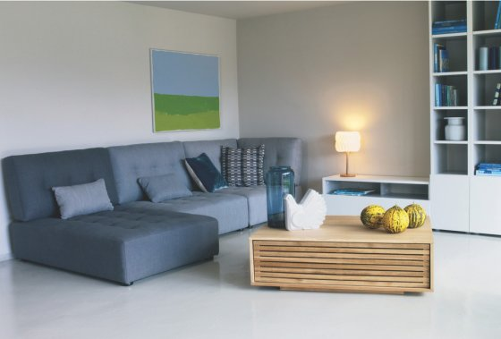 Max oak coffee table with storage