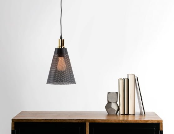 Ceiling Pendat Lamp from Memoir Lighting Collection with Plumen 002 LED bulb illuminated