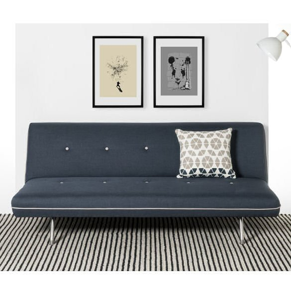 MADE Miki contemporary sofa bed in blue