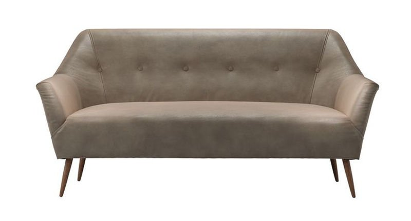 Sofa.com Minnie Leather mid-century style sofa 2.5 seater