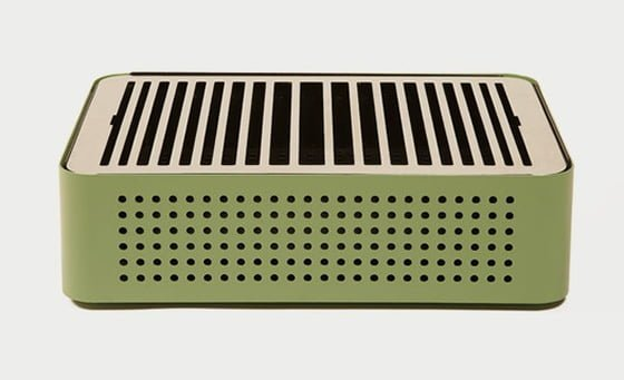RS Barcelona Mon Oncle green portable barbecue for small spaces