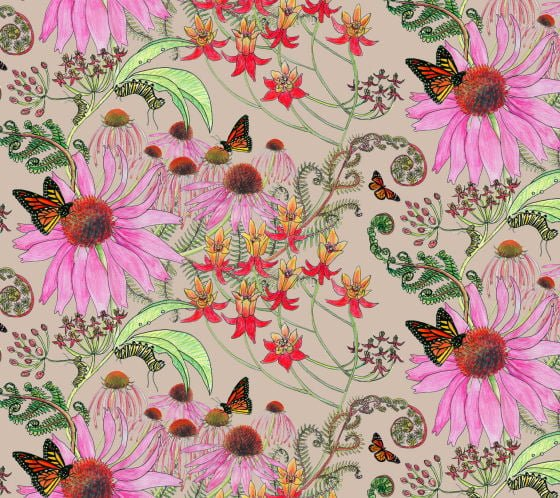 Newton Paisley wallpaper Carolina Monarch