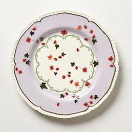 Mauve and cream china plate