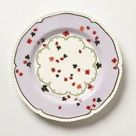 Mauve and cream china plate