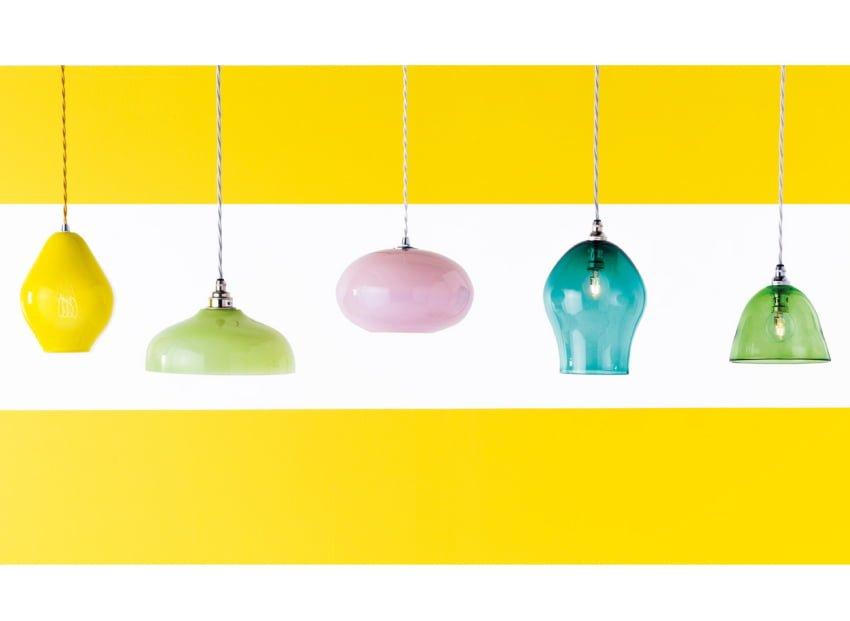 hand-blown glss lights by Curiousa & Curiousa