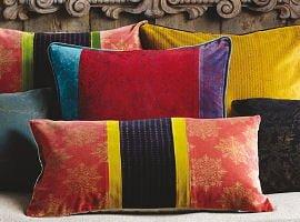 Colourful cushions by Oka Direct