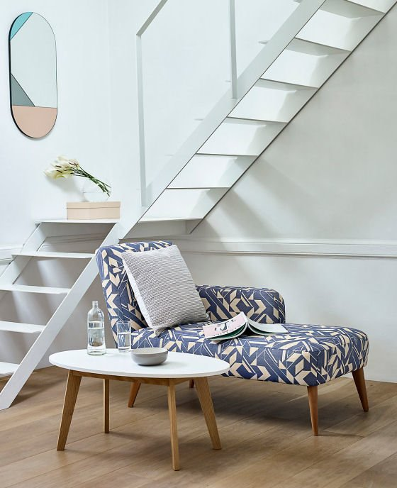 The M&S LOFT range of furniture for small spaces Olin corner chaise longue and coffee table