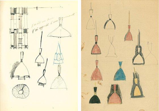 Dokka pendant lamp original sketches by Birger Dahl