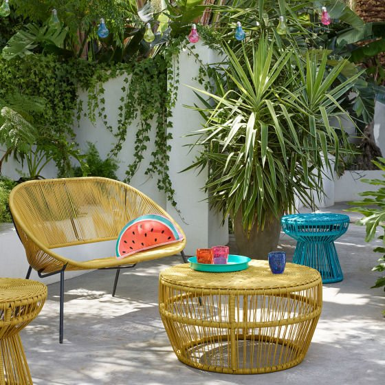 colourful garden furniture for contemporary outside spaces