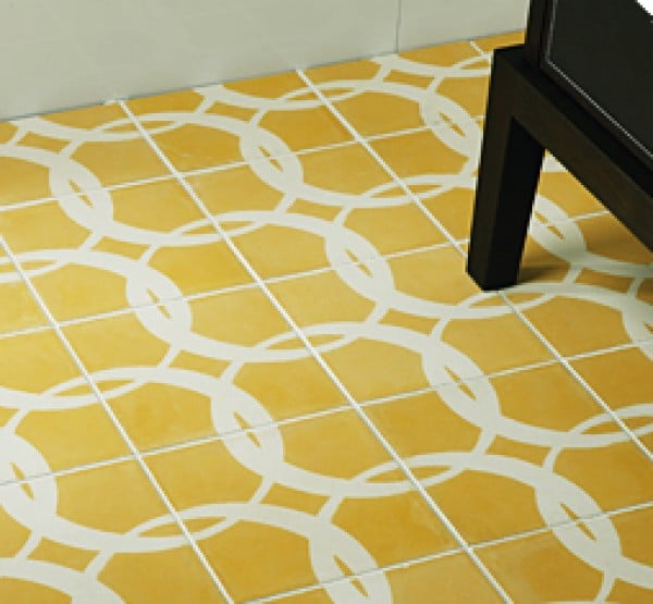 Popham Design yellow Paccha floor tiles