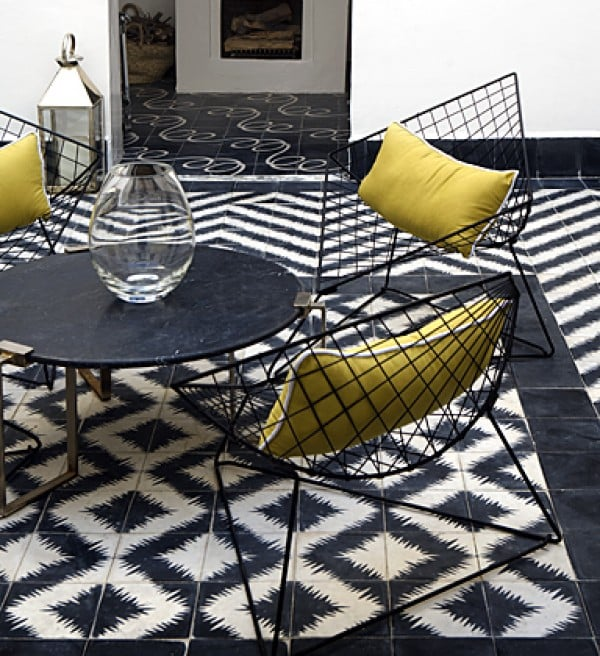Popham Design Black and White Zigzag tiles