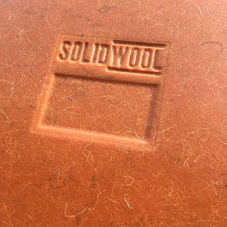 Solidwool material in new colour of burnt orange