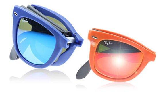 ray ban folding sunglasses uk  blue and orange ray ban folding wayfarer sunglasses