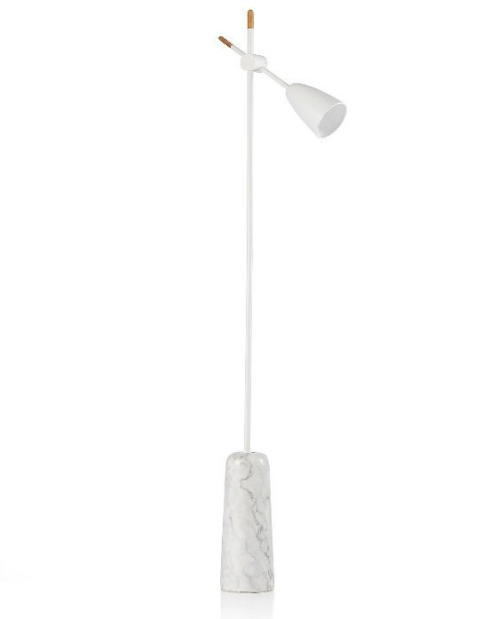 White Conran Ryton Floor Lamp from M&S with marble base