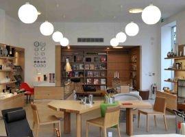 Interior shot of Skandium contemporary furniture shop Brompton Road London