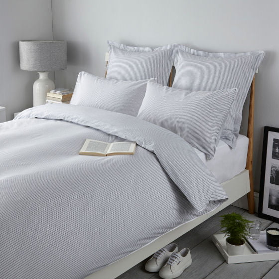 St Ives striped cotton bedlinen by The White Company