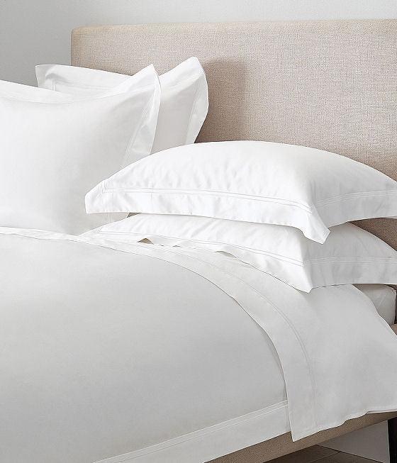 Symons Cord 1000 thread count luxury bedlinen, white cotton summer bedlinen from The White Company