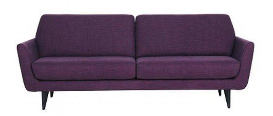 Purple 2.5 seater Rucola sofa