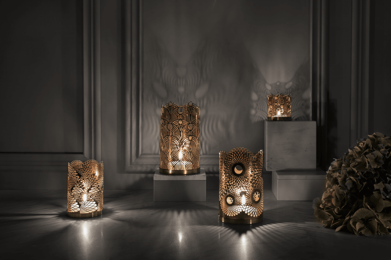 Skultuna brass candle holders - the London Collection